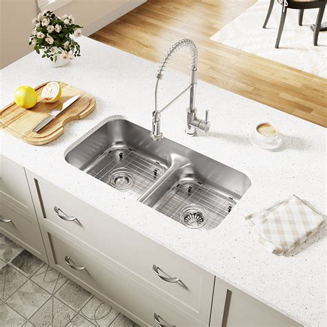 brushed bronze kitchen faucet 512 half divide stainless steel kitchen sink