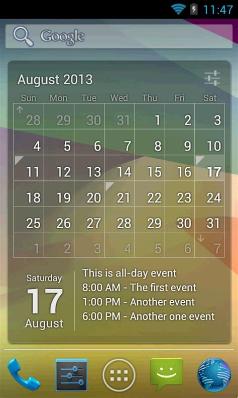 calendar widget android calendar widget month agenda android apps on play
