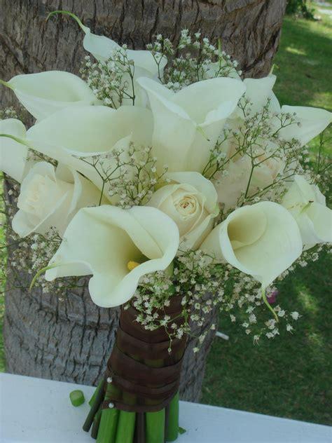 lilies flowers  weddings bouquet bridal white calla