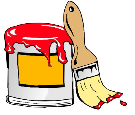 paint can clipart clipart paint can with brush animation