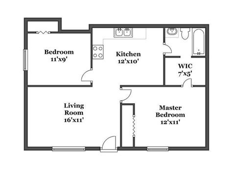 simple 2 house plans bedroom house plans 2 bedroom house simple plan single