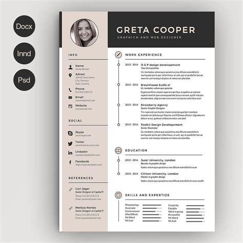 clean cv resume ii cv template template and creative