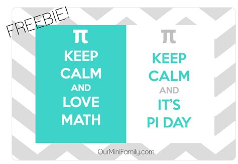 Keep Calm And It's Pi Day! Printable Freebie