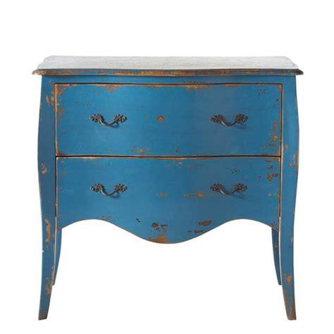 commode en bois massif bleue l 90 cm