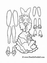 Puppet Coloring Pages Fairy Cut Paper Puppets Dolls March Pheemcfaddell Outs Printable Template Doll Marionette Colouring Templates Assemble Sheets กระดาษ sketch template