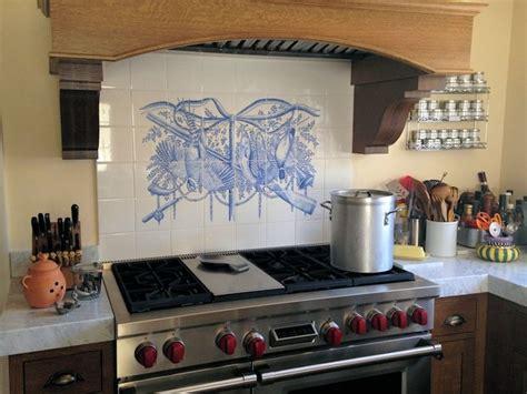 delft kitchen tiles quot trophy sport fishing quot azulejo delft blue 3147