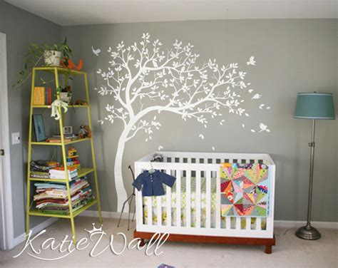 unisex baby room decoration large customizable nursery wall tree stickers kw032r ebay