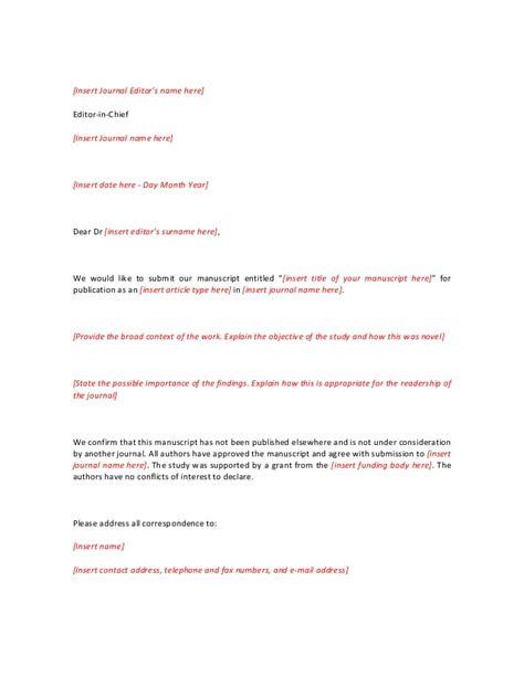 cover letter template shortextebded  journal editor