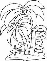 Coloring Island Tropical Islands Popular sketch template