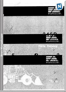 Fiat Allis Wheel Loader Model 345b Parts Catalog