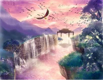 Pokemon Ho Oh Sky Water Scenic Waterfall