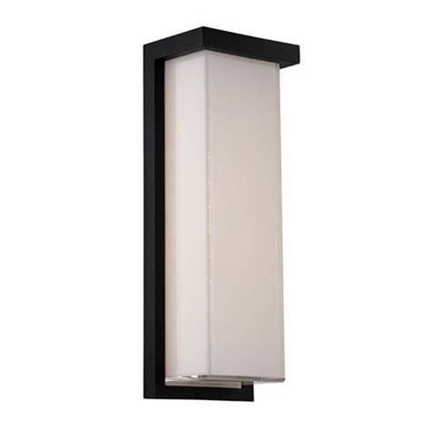 modern forms exterior lighting modern led outdoor wall light in black finish ws w1414