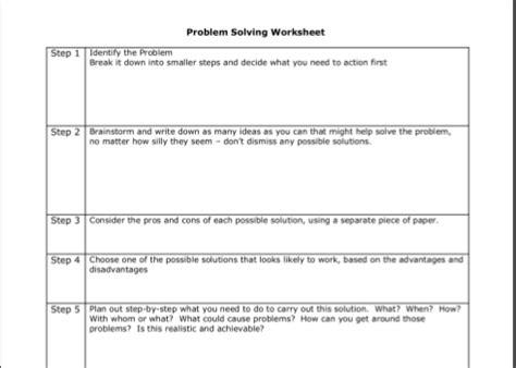 Image Result For Cbt Problem Solving Worksheets  Cbt  Pinterest  Problem Solving, Cbt And