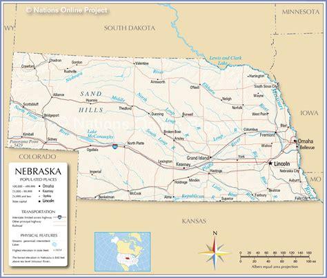 Reference Maps of Nebraska, USA - Nations Online Project