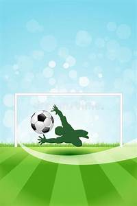 Soccer Ball Card Soccer Background With Goalkeeper And Ball Stock Vector