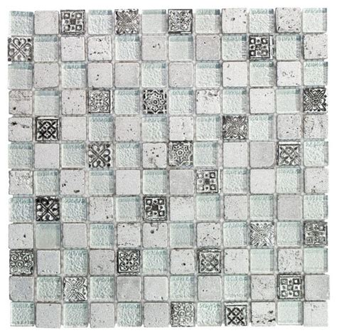 jeffrey court silver screen mosaic tile mosaic tile jeffrey court flooring silver relic 11 75 in