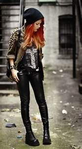 Rebel outfit , fashion look , black silk , awesome boots ...