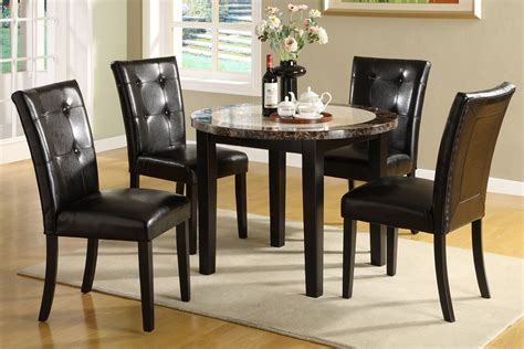marble breakfast table sets atlas marble top solid wood round dining table set 5pc