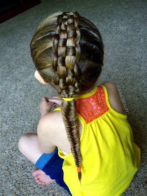 zipper braid   fishtail hairstyle  girls hair styles girl hairstyles cool hairstyles