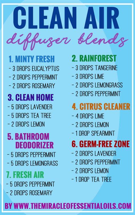 top  essential oil diffuser blends  clean air