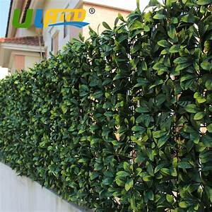 "10""x 10"" Sythenic Grass Fence Mat Fake Ivy Plant Fencing"
