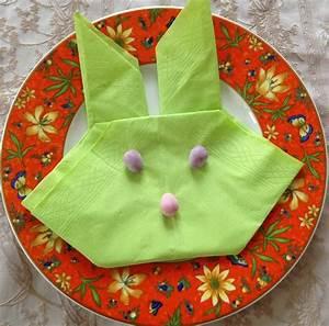 Pliage Serviette Lapin Simple : d co de p ques petite t te de lapin en origami paques ~ Melissatoandfro.com Idées de Décoration