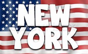 New York Schriftzug : usa flagge new york stockfoto colourbox ~ Frokenaadalensverden.com Haus und Dekorationen