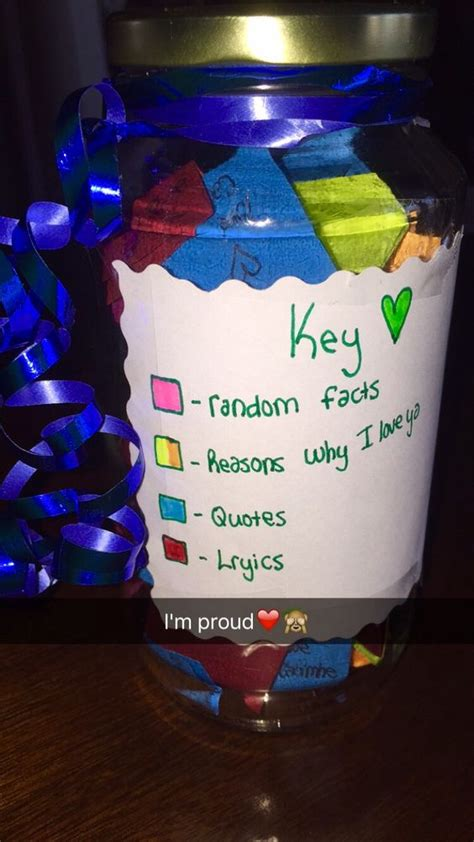 bestfriend homemade birthday jar present filled with