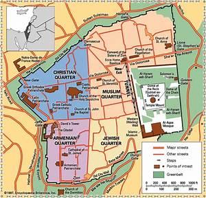 Tourist Map Of The Old City Of Jerusalem