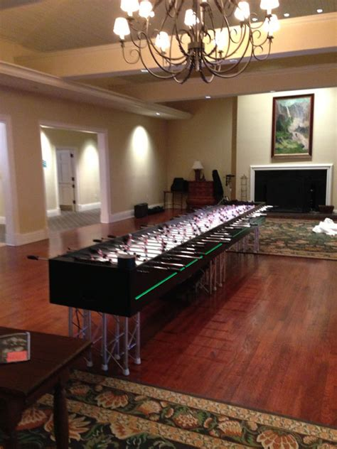 player led foosball game table ny party works