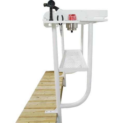 fish cleaning station with sink for dock upgrade your dockside fillet table on the water