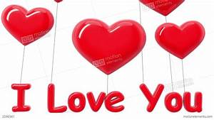 Heart-shaped Balloons. I Love You. Alpha Mask. HD Stock ...