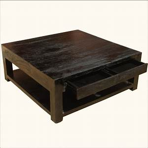 mission mango hardwood square espresso coffee table With square mission coffee table