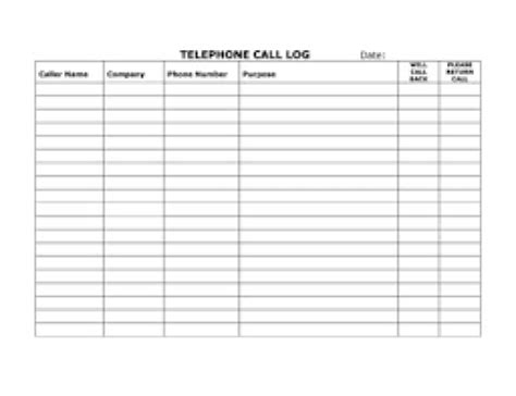 phone call log template top 5 resources to get free call log templates word templates excel templates