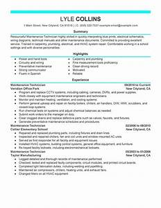 maintenance technician resume examples created by pros With maintenance building resume