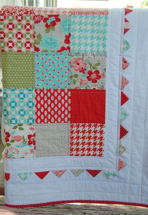 Patchwork Muster Modern by Vintage Modern Baby Quilt Patchwork Quilt Baby Blanket