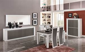 chaise venezia laquee blanc grise blanc gris brillant With meuble salle À manger avec chaise salle a manger grise et blanc