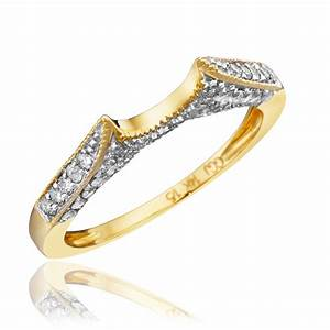 yellow gold wedding ring sets for her hd ct tw diamond With yellow gold wedding rings sets