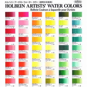 Holbein Watercolor   Printed Color Chart