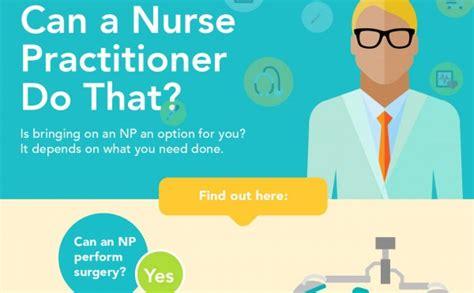 nurse practitioner   infographic scrubs