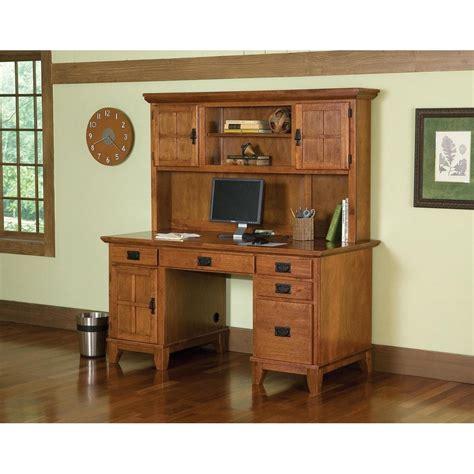 arts and crafts desk arts crafts pedestal desk and hutch cottage oak finish