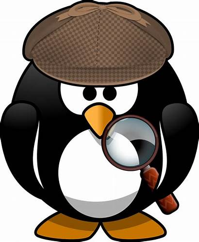 Detective Penguin Clipart Clip Sleuth Openclipart Cartoon