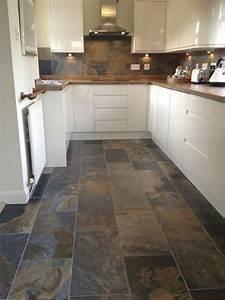best 15 slate floor tile kitchen ideas diy design decor With tile designs for kitchen floors