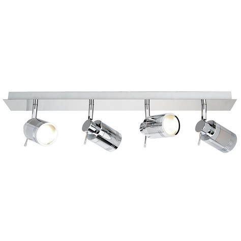 4 spotlight ceiling light hugo 4 light bathroom ceiling spotlight bar chrome from