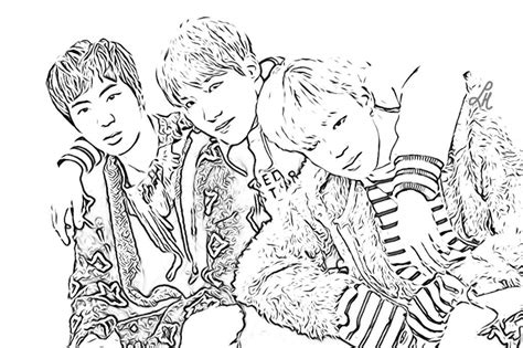 bts kpop coloring pages coloring pages
