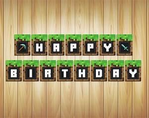 Phorest Studio » Minecraft Banner Birthday party Printable