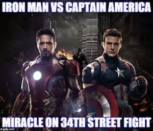 Captain America vs Iron Man Meme