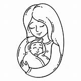 Coloring Mother Holding Mom Pregnant Pregnancy Moeder Cartoon Pagina Kleurende Illustratie Animal Vektor Drawing Pagine Som Objects Isolated Illustrazione Coloritura sketch template