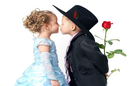 nice  beautiful baby couple kissing wallpaperscom