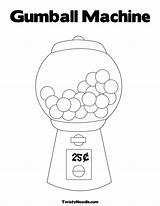 Gumball Machine Coloring Gum Drawing Ball Sheet Step Printable Template Math Days Thiebaud Wayne Better Ninjago Sheets Cars Activities Madrid sketch template